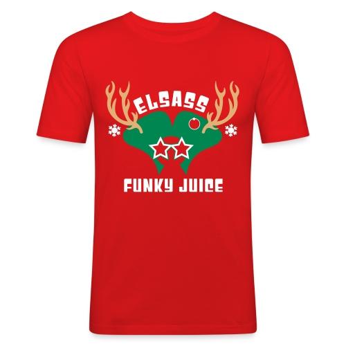 T-Shirt Homme Noel 2015 Près de corps Logo Velours - T-shirt près du corps Homme