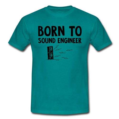 HP - Born To Sound Engineer - Men's T-Shirt