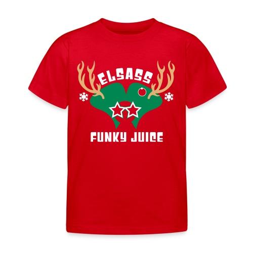 T-Shirt Enfant Noel 2015 Logo Velours - T-shirt Enfant