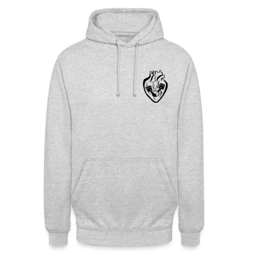 The heart is the engine that keeps you going - Unisex Hoodie