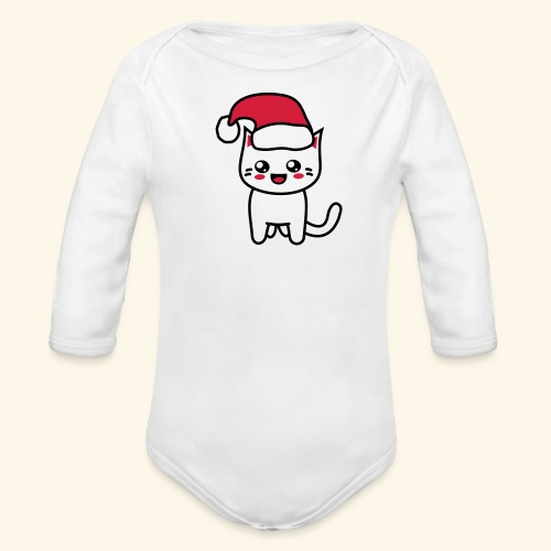 Kawaii Kitteh Christmas - Baby Bio-Langarm-Body