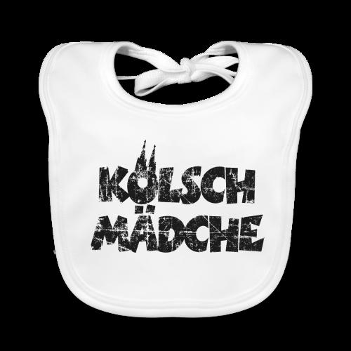 Kölsch Mädche (Vintage Schwarz) Babylätzchen - Baby Bio-Lätzchen