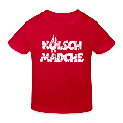 Kölsch Mädche (Vintage Weiß) Bio Kinder T-Shirt - Kinder Bio-T-Shirt