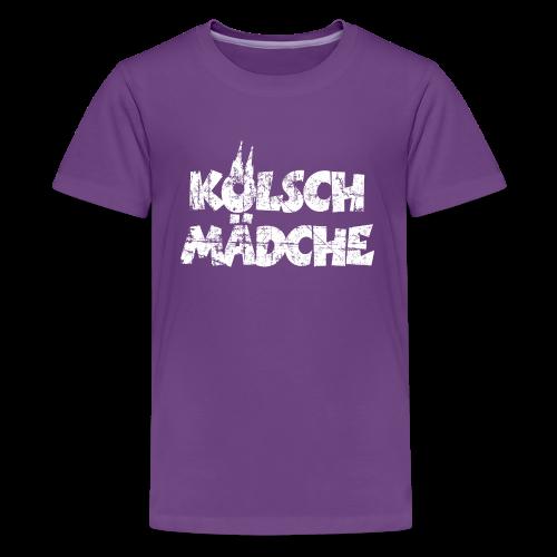 Kölsch Mädche (Vintage Weiß) Teenager T-Shirt - Teenager Premium T-Shirt