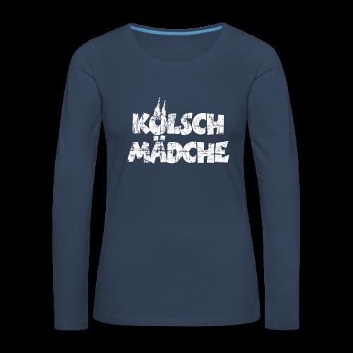 Kölsch Mädche (Vintage Weiß) Langarmshirt - Frauen Premium Langarmshirt