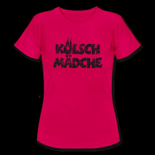 Kölsch Mädche (Vintage Schwarz) Köln T-Shirt - Frauen T-Shirt