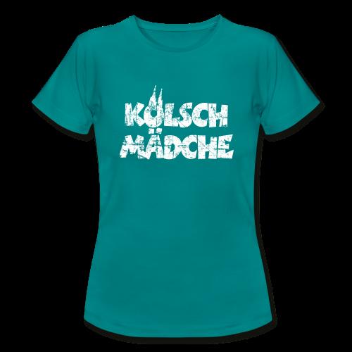 Kölsch Mädche (Vintage Weiß) Köln T-Shirt - Frauen T-Shirt