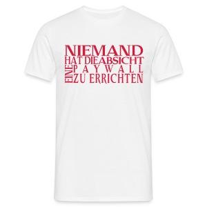 Das Paywall-Shirt vom Gesellschafts-Echo - Männer T-Shirt
