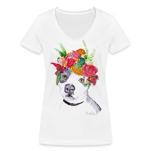 Ellie - Women's T-Shirt - Women's Organic V-Neck T-Shirt by Stanley & Stella