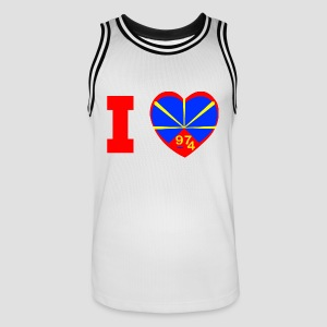 Maillot de basket Homme I love 974 - Lo Mahaveli - Maillot de basket Homme