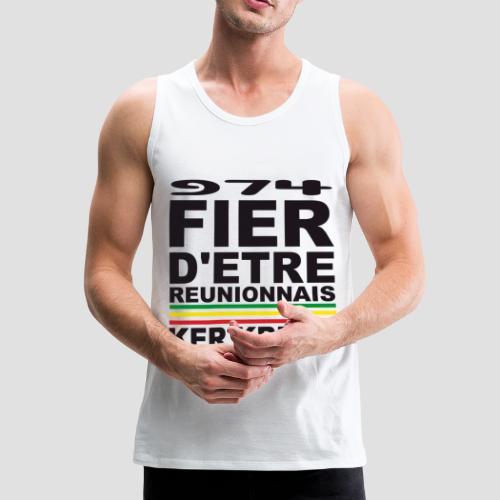 Débardeur Premium Homme Fier d'etre Reunionnais - Débardeur Premium Homme
