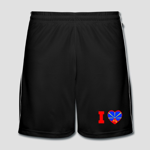 Short de football Homme i love 974 - Lo Mahaveli - Short de football Homme