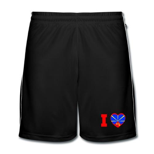 Short de football Homme i love 974 - Lo Mahaveli - Short de football Homme