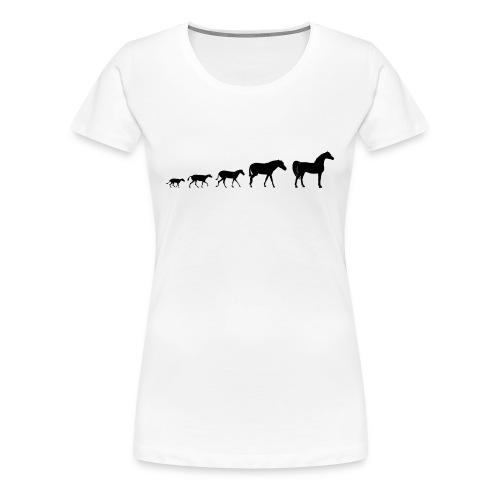 Arabian Horse Evolution - Women's Premium T-Shirt
