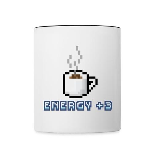 Pixel Kaffee Tasse Retro Design - Tasse zweifarbig