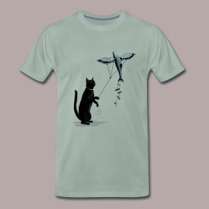 Cat with Kite - Men's Premium T-Shirt