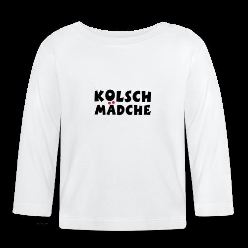 Kölsch Mädche mit Ö und Ä (Schwarz/Rot) Baby T-Shirt - Baby Langarmshirt