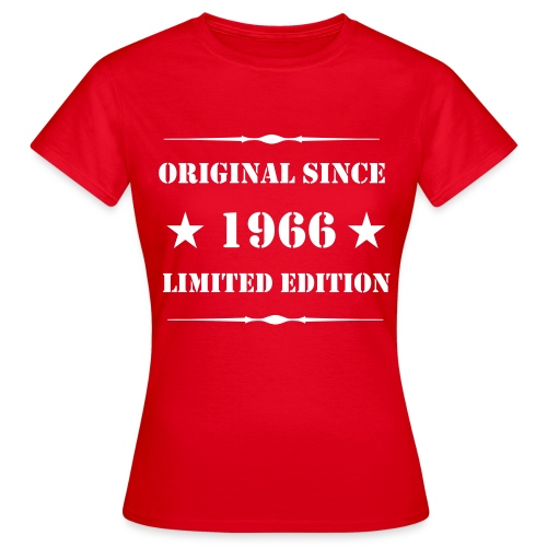 Girls Shirt mit Aufdruck, 1966 Limited Edition - Frauen T-Shirt