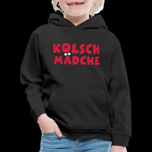 Kölsch Mädche mit Ö und Ä (Rot/Weiß) Kinder Hoodie - Kinder Premium Hoodie