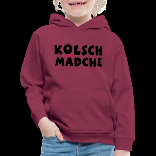 Kölsch Mädche mit Ö und Ä (Schwarz/Rot) Kinder Hoodie - Kinder Premium Hoodie