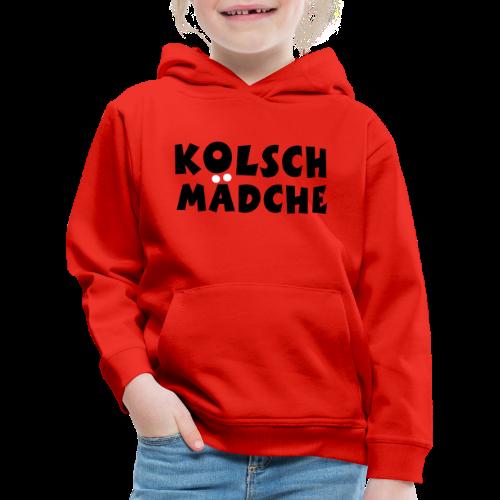 Kölsch Mädche mit Ö und Ä (Schwarz/Weiß) Kinder Hoodie - Kinder Premium Hoodie