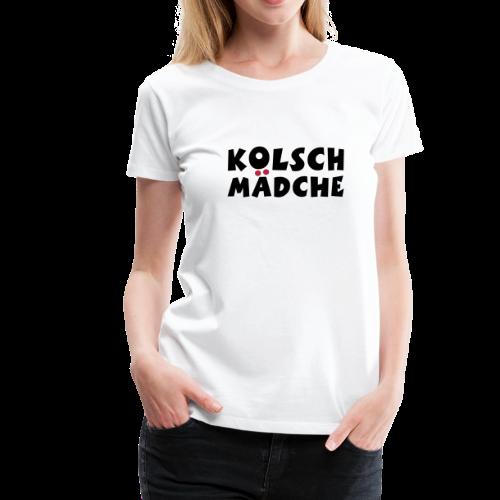 Kölsch Mädche mit Ö und Ä (Schwarz/Rot) Mädchen aus Köln - Frauen Premium T-Shirt
