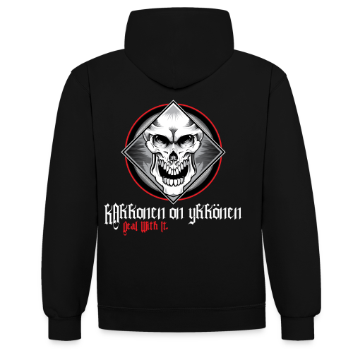 2on1 The Skull huppari - NEW DESIGN! - Kontrastihuppari