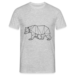 T-Shirt Ours Noir - Animal Prism - T-shirt Homme