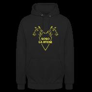 Sweat-shirts ~ Sweat-shirt à capuche unisexe ~ Logo pour le Rappeur Soso La Hyène