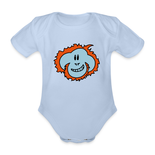 Happy Orangutan Baby Bodysuit - Organic Short-sleeved Baby Bodysuit