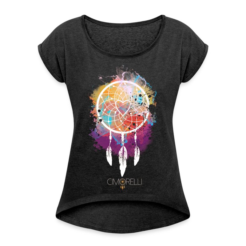 Dream Catcher Tee Shirt  - Women's T-shirt with rolled up sleeves