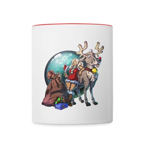 helfende Elfe&Derpy-Ren Tasse - Tasse zweifarbig