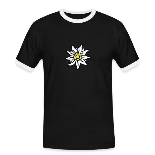 edelweiss2 - Männer Kontrast-T-Shirt