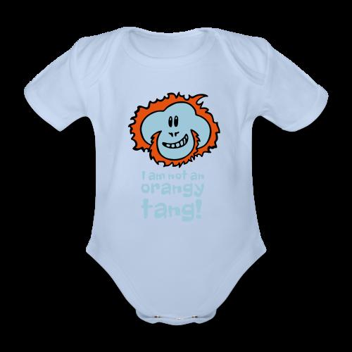 Orangy Tang Orangutan Baby Bodysuit - Organic Short-sleeved Baby Bodysuit