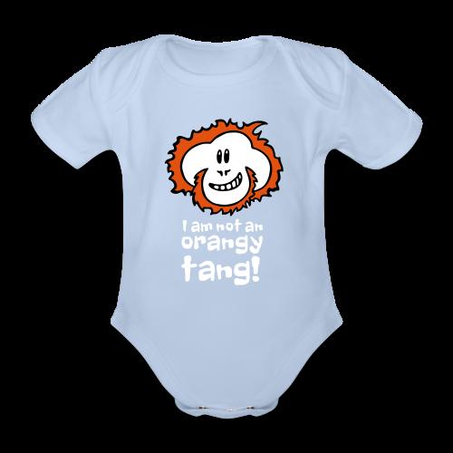 Orangy Tang Orangutan Baby Blue Bodysuit - Organic Short-sleeved Baby Bodysuit