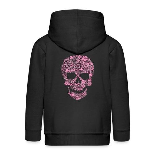 Hoodie enfant pink skull - Kids' Premium Zip Hoodie
