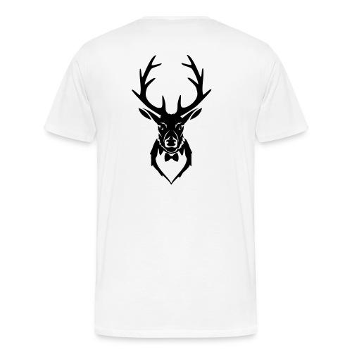 Hirsch - Hirschkopf - Hirschgeweih - Fliege  - Männer Premium T-Shirt
