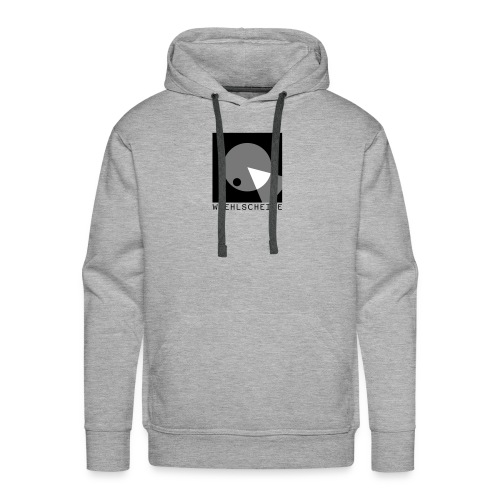 Hoodie (Männer) // grau meliert (Flexdruck) - Männer Premium Hoodie