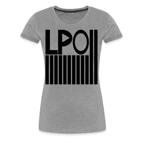 LPO - Stripes - T-Shirt - Grau - Frau - Frauen Premium T-Shirt