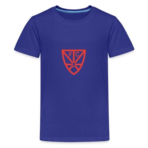 Teenager Premium T-Shirt - verschiedene Farben - mit FCO Logo - Teenager Premium T-Shirt