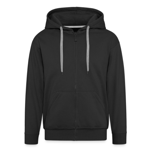 2on1 ry huppari, logo selässä (Vetoketju Musta) - Miesten premium vetoketjullinen huppari