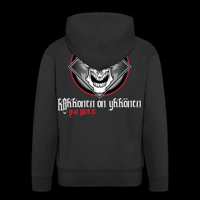"2on1 ""The Skull"" huppari - NEW DESIGN! (Vetoketju Musta)"