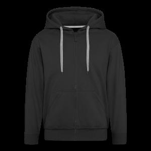 2on1 huppari, jossa logo paidan selkäpuolella. (Vetoketju musta)  - Miesten premium vetoketjullinen huppari
