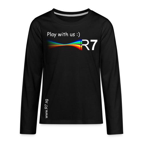 R7 Pullover Rubinrot - Teenager Premium Langarmshirt