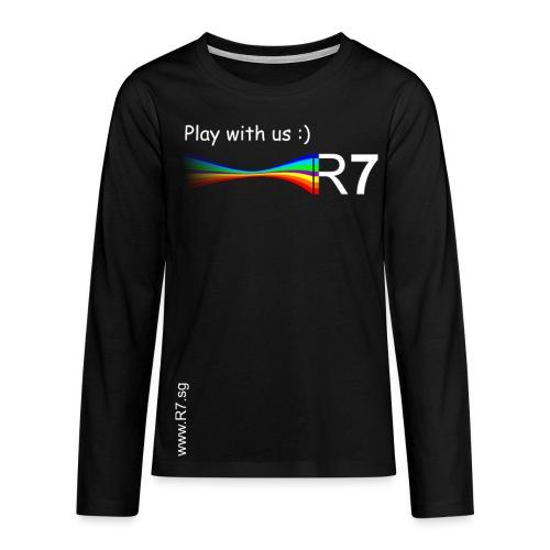 R7 Pullover Schwarz - Teenager Premium Langarmshirt