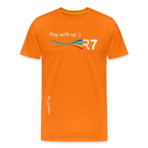 R7 Männer Premiumshirt Orange - Männer Premium T-Shirt