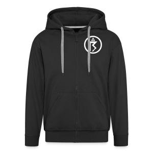 Netherbird thunder hoodie (white details) - Men's Premium Hooded Jacket