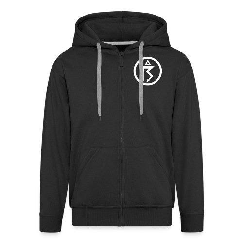 Netherbird thunder hoodie (white details) - Men's Premium Hooded Jacket