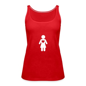 Woman icon happy love Tops - Women's Premium Tank Top