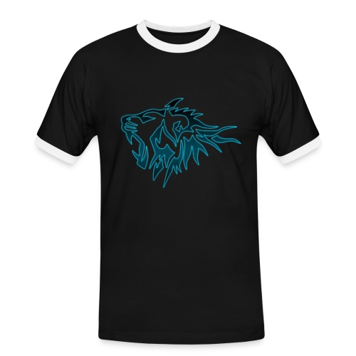 T-Shirt Homme Tigres Bleu (Noir) - T-shirt contrasté Homme